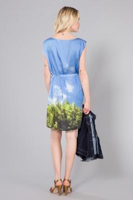 Agnes B Auxane Dress back