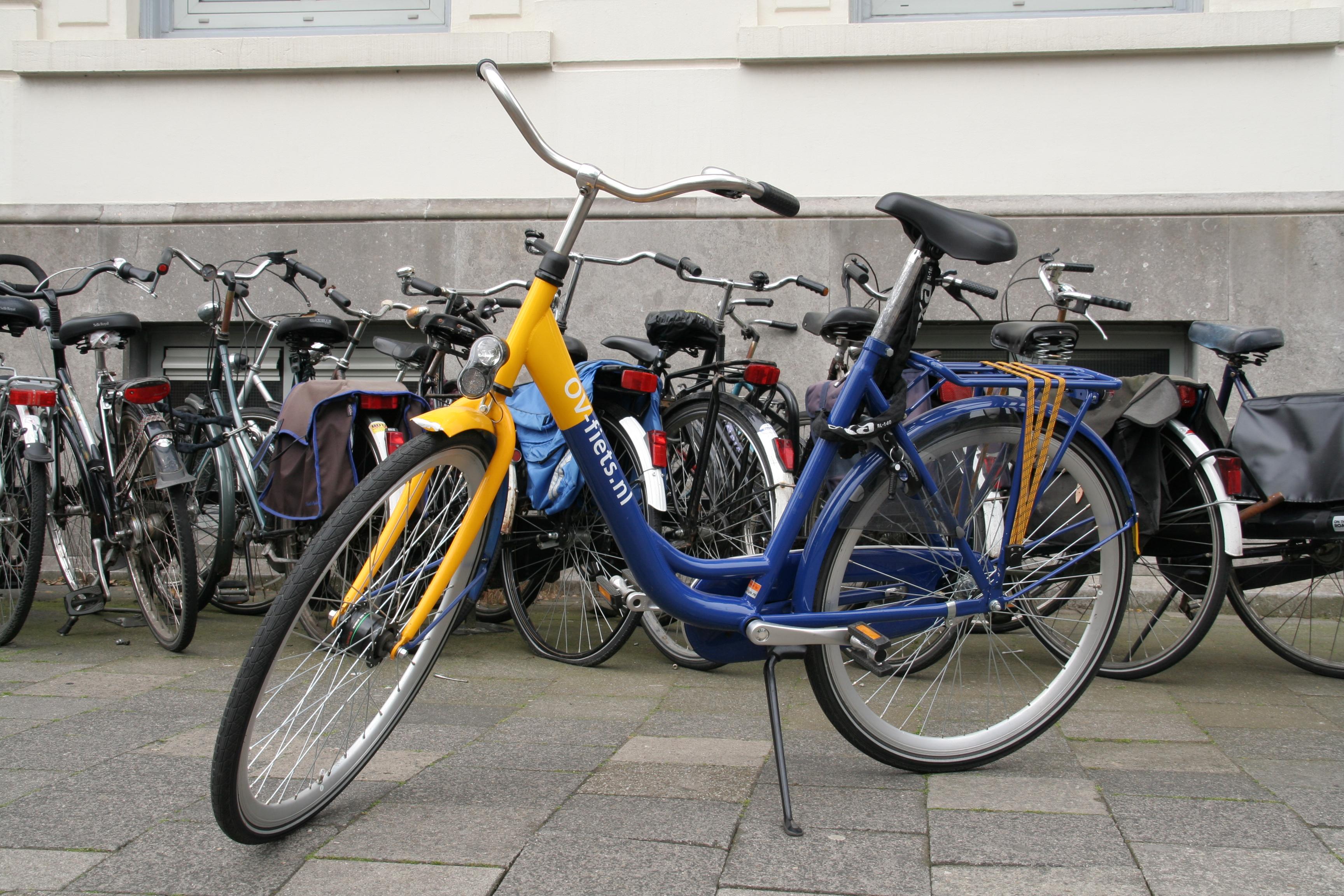 An OV-fiets bike share bike.
