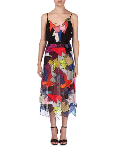 Christopher Kane Patchwork Lace Top and Midi Skirt, Multi