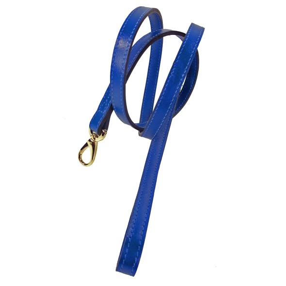 Hartman & Rose plain-italian-leather-lead-in-cobalt-blue_1