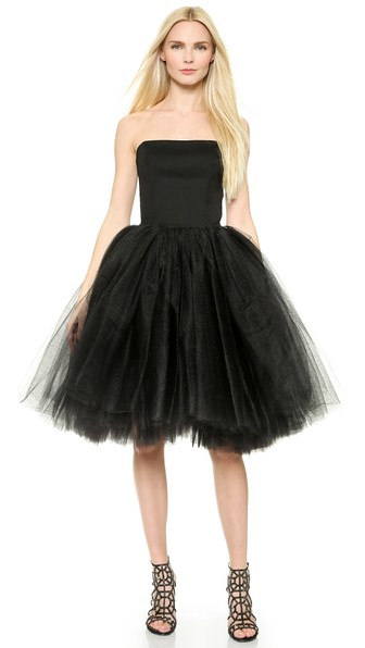 LoydFord-Bustier-Tulle-Gown-Black