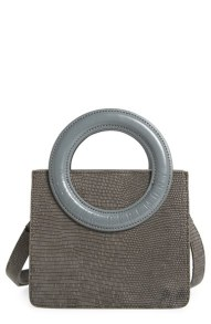 Opening Ceremony Mini Lynx Lizard Embossed Taupe Grey