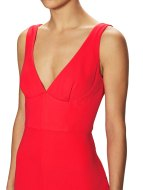 ABS by Allen Schwartz Sleeveless Double - V Gown $418 - $189 Red close-up