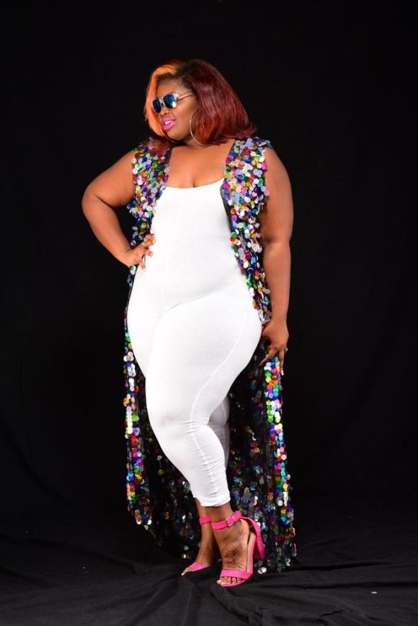 Audacious and Feral Disco Sequin Cardigan $110