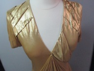 Bottega Veneta Gold Gown front