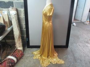 Bottega Veneta Gold Gown side