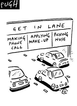 Cartoon Putting Make-Up on
