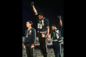 Olympic Athletes Black-Power-Salute Photo Associated Press