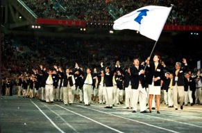 Olympic Athletes Korea-Unification-Flag-Photo Associated Press