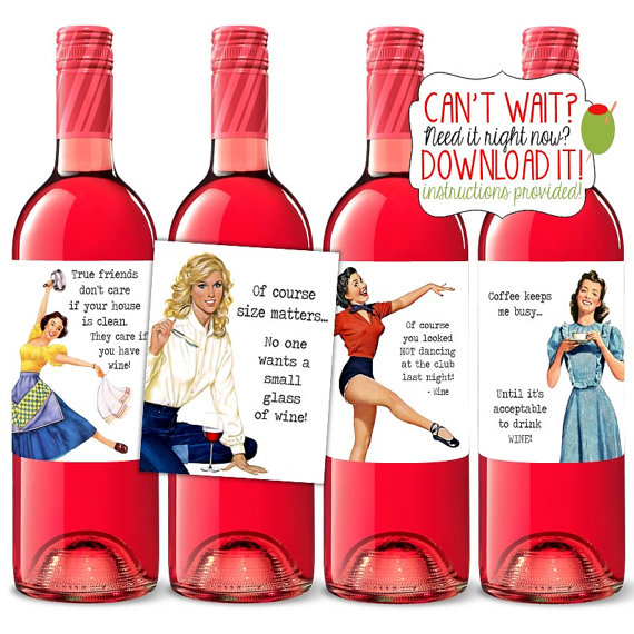 Sloshed Sisters Etsy Wine Labels 2