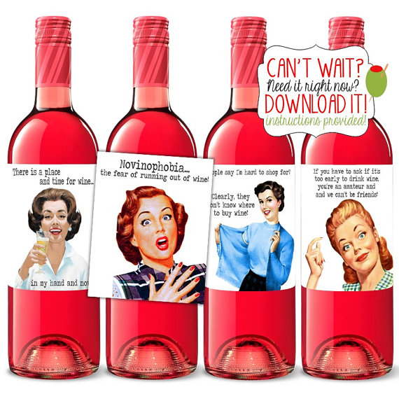 Sloshed Sisters Etsy Wine Labels 3