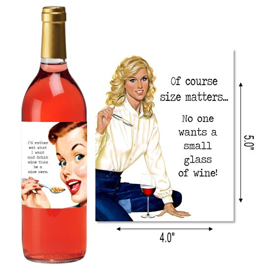 Sloshed Sisters Etsy Wine Labels Size