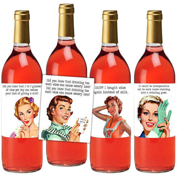 Sloshed Sisters Etsy Wine Labels
