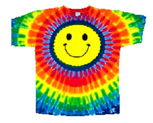 Tie Dye Smiley Face