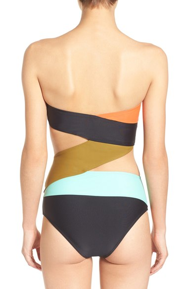 Volcom Simply Solid One Piece Suit Multi $90 back