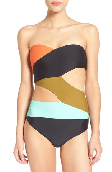 Volcom Simply Solid One Piece Suit Multi $90