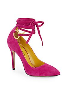 Charlotte Olympia - Sabine suede pumps