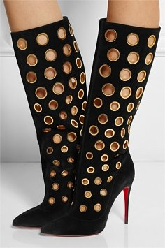 christian-louboutin-apollo-black-gold-suede-boots-model