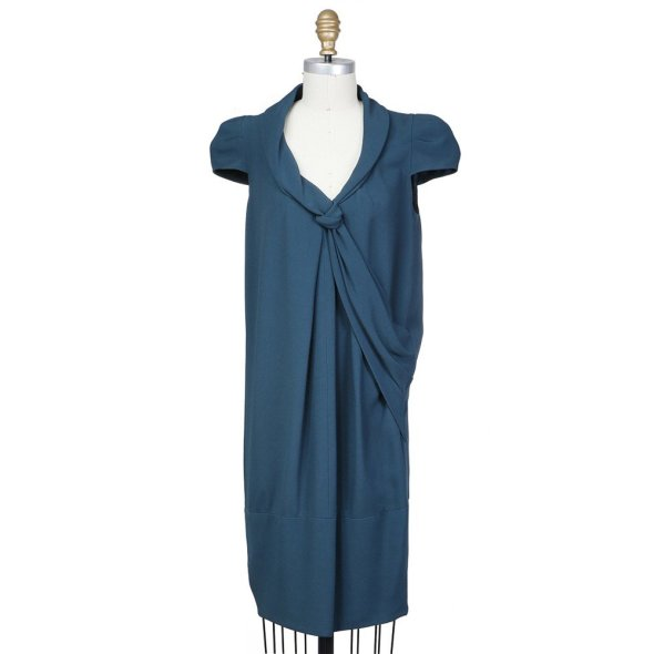 Decades BLUE CAP SLEEVED DRESS PRADA $490