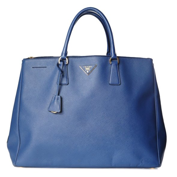 Decades BLUE TEXTURED TOTE PRADA $2100
