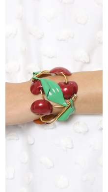 Erickson Beamon Cherry Pie Cuff Bracelet