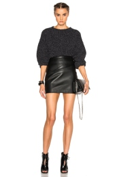 IRO Walton Sweater and Elodie leather Skirt