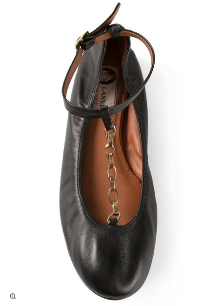 lanvin-ballet-flat-with-chains