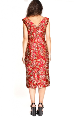 prada-red-gold-brocade-dress-4