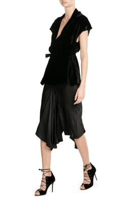 rick-owens-draped-velvet-top-and-skirt-black