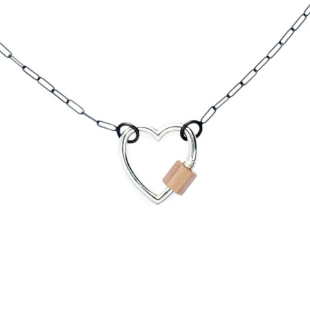 marla-aaron-sterling-silver-14k-rose-gold-heart-lock-necklace