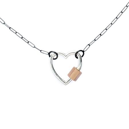 marla-aaron-sterling-silver-14k-rose-gold-heart-lock-necklace