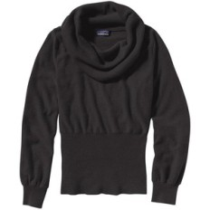 Patagonia Black Cashmere Cowl Sweater fitted