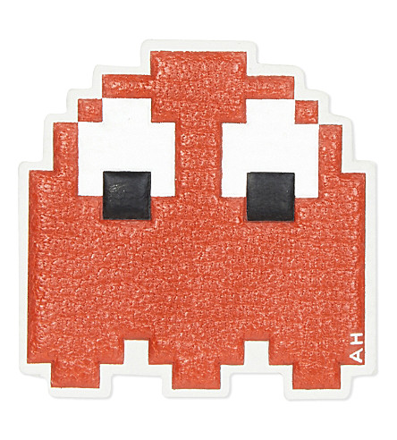 anya-hindmarch-pac-man-ghost-sticker-flame-red