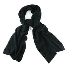 Cashmere Knit Scarf Black