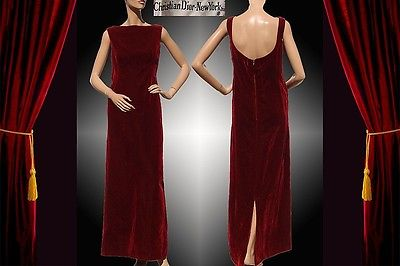 ebay-velvet-1960s-vintage-evening-gown-by-christian-dior-in-maroon-velvet