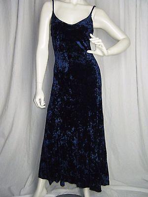 ebay-velvet-betsey-johnson-royal-blue-crushed-stretch-velvet-womens-vintage-maxi-dress-m