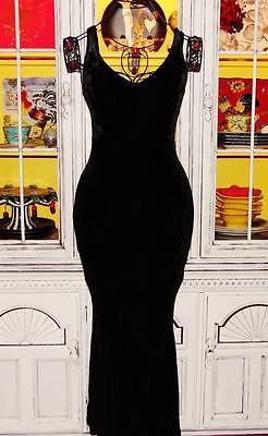 ebay-velvet-betsey-johnson-vintage-dress-crushed-velvet-black-stretch-long-maxi-m-6-8-10