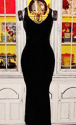ebay-velvet-betsey-johnson-vintage-dress-crushed-velvet-black-stretch-long-maxi-m-6-8-10