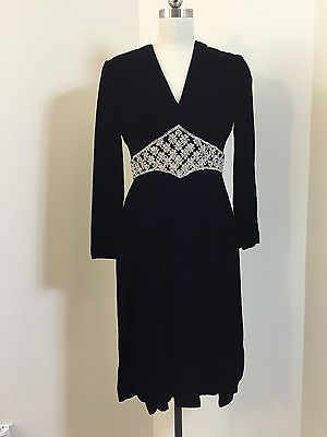 ebay-velvet-true-vintage-60s-70s-mollie-parnis-saks-5th-ave-black-velvet-dress-large