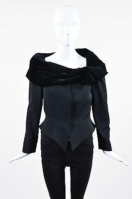 ebay-velvet-vintage-thierry-mugler-black-wool-velvet-wrap-collar-pointed-hem-jacket