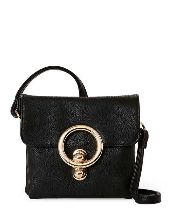 Imoshion Black Lou Lou Crossbody Ring Bag