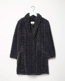 Étoile Isabel Marant Anthracite Faux Fur Coat