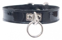 leather-etc-patent-o-ring-collar-black