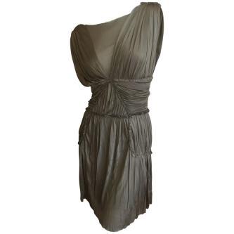 alexander-mcqueen-green-draped-goddess-mini-dress-mcq-fall-2010