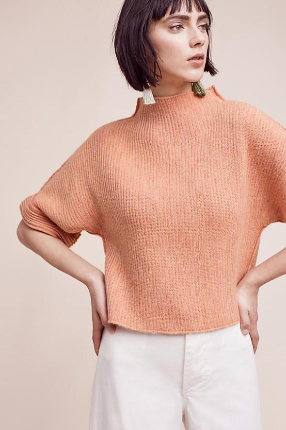 anthropologie-moth-peach-cuffed-kimono-sweater