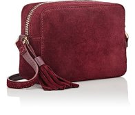 Barneys Suede Camera Bag Wine