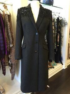 Rob erto Cavalli Wool Cashmere Beaded Coat