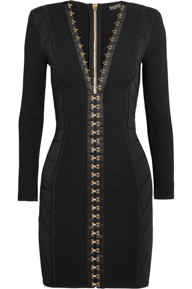 balmain-hook-and-eye-rib-knit-stretch-mini-dress