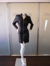 Thierry Mugler Black Leather Dress