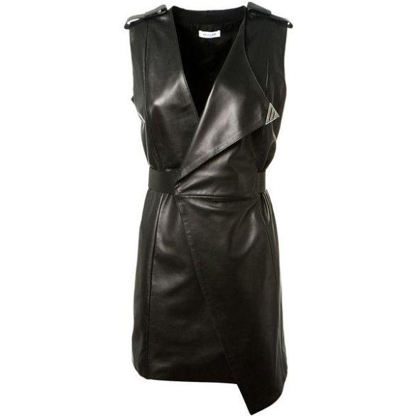 thierry-mugler-leather wrap dress